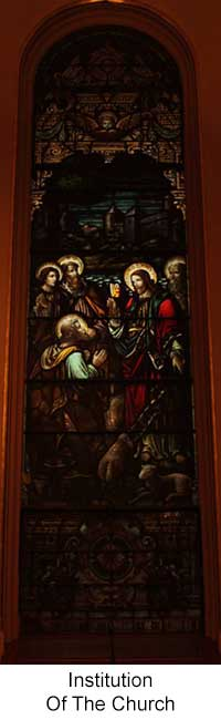 Institution of the Church Stained Glass Window