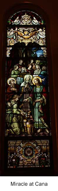 Miracle at Cana Stained Glass Window