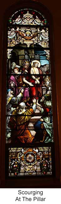 Scourging at the Pillar Stained Glass Window