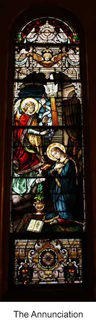 The Annunciation Stained Glass Window