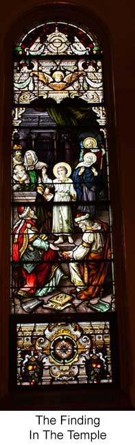The Finding in the Temple Stained Glass Window